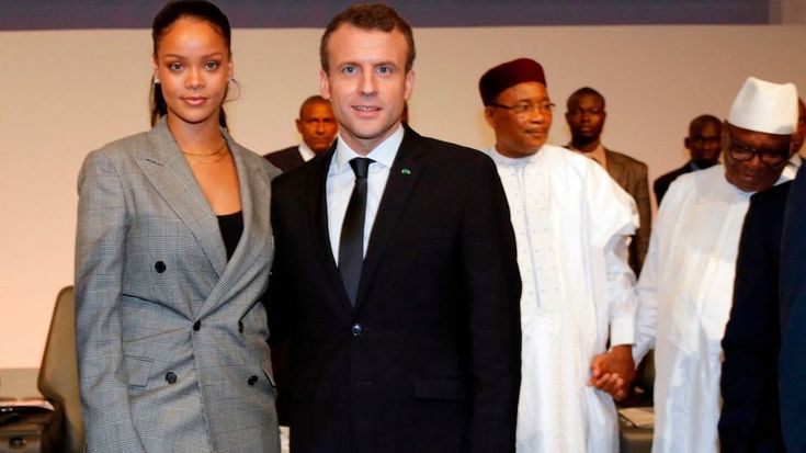 Pop singer Rihanna is teaming up with French President Emmanuel Macron to improve education in developing nations around the world.