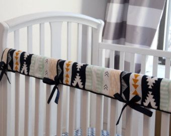 Crib Teething Guard (Any Fabric) or Rail Guard with Piping & Ties