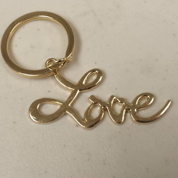 Love Keychain Sex and the City Movie Gold Key Ring by MyPartyShirt, $6.99