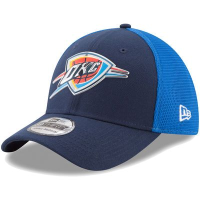 Men's Oklahoma City Thunder New Era Navy On-Court 39THIRTY Flex Hat