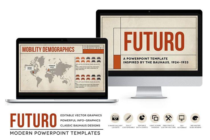 Futuro Bauhaus Powerpoint Templates by Blixa 6 Studios on @creativemarket
