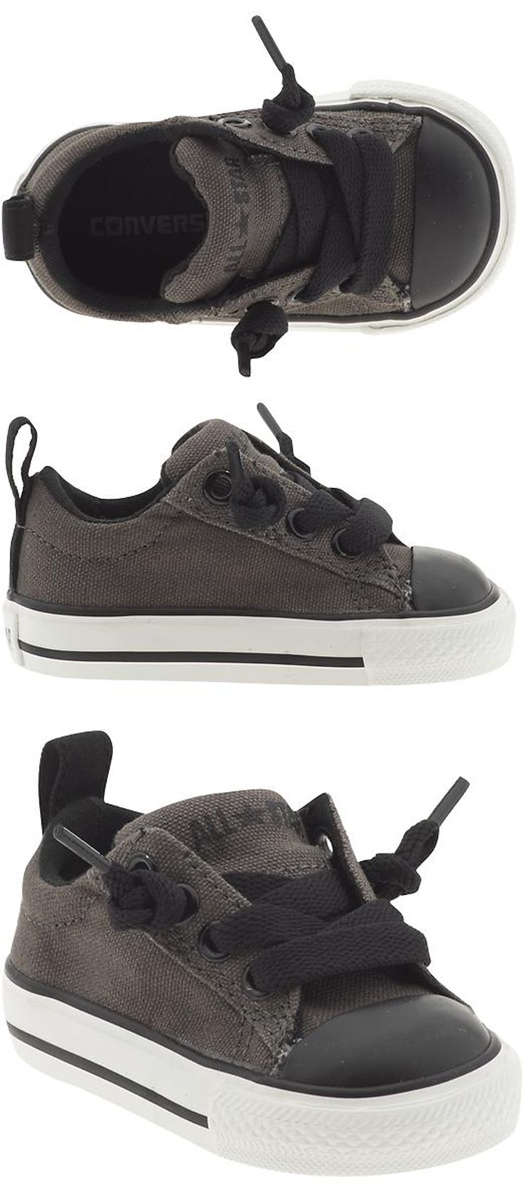 Baby Chuck Taylor All Star Street Ox in Charcoal/Black by Converse - Adorable