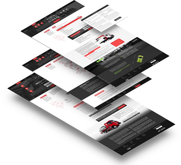vezynok.ru - tow truck renting company web-site design on Behance
