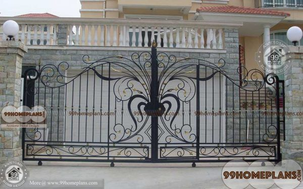 Modern Main Gate Designs Ideas With Traditional Iron Home Gate