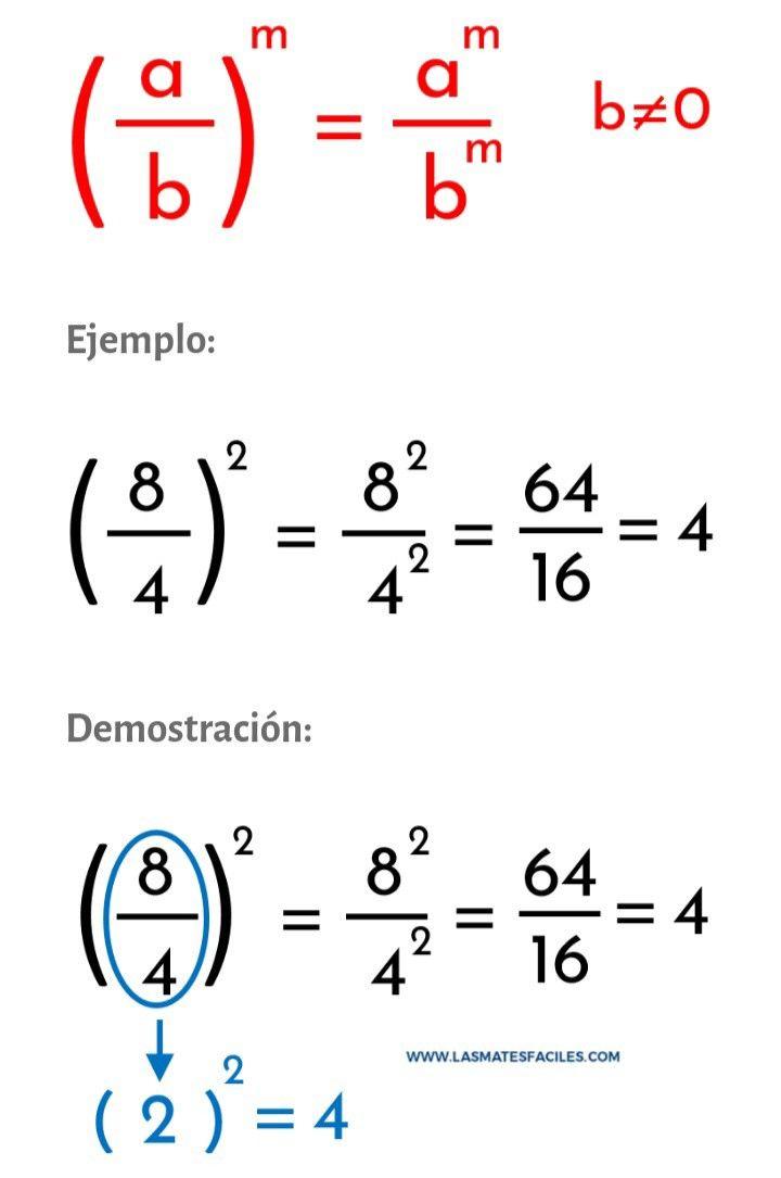 Demostración Potenciación Propiedad Distributiva De La División Educacion Matematicas Secundaria Matematicas Matematicas Avanzadas