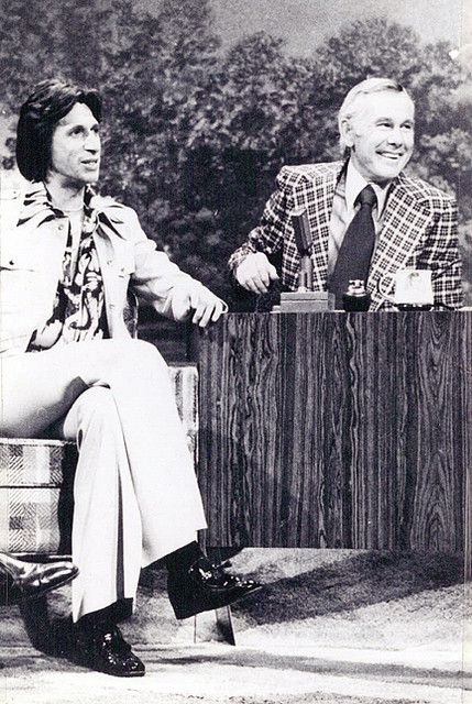 Comedian, David Brenner w/ Johnny Carson