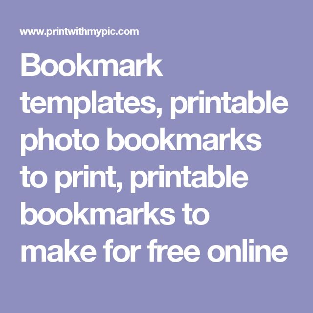 template for bookmarks