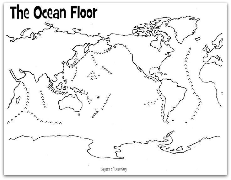 blank diagram of earth s layers liftmaster garage door wiring the ocean floor | science pinterest science, and