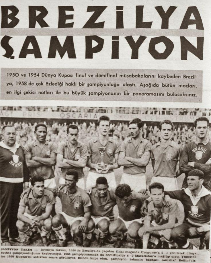 1958 dünya kupası şampiyonu Brezilya.