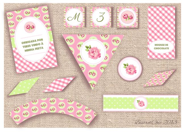 Rose Garden Personalized Party Printables
