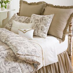 French Country Bed Linens | French Country Stripe Duvet Collection