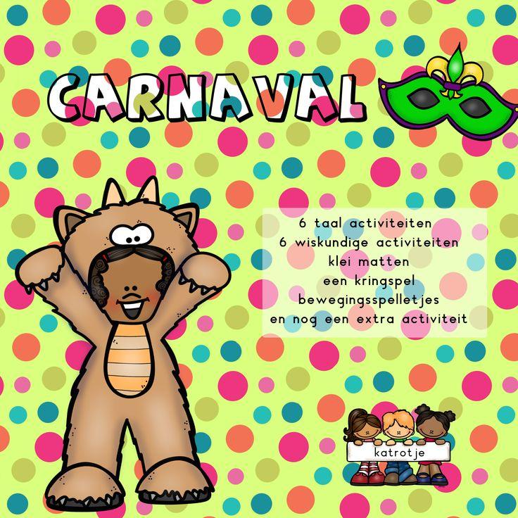 6 taalspelletjes 6 wiskundige spelletjes en nog veel meer carnaval plezier voor kleuters. samen met katrotje