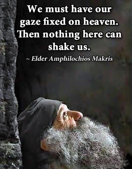 gaze fixed on heaven....