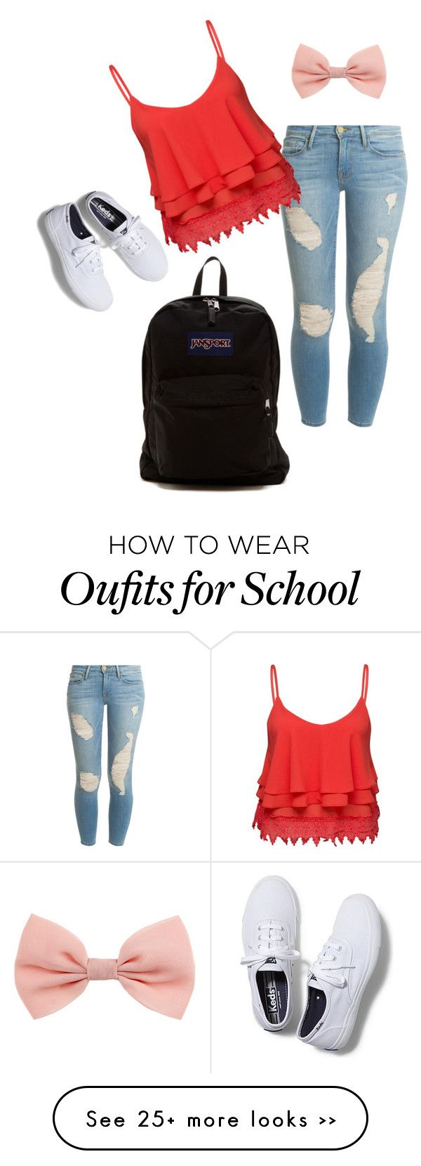 """cute school outfit"" by preppycheer1 on Polyvore"
