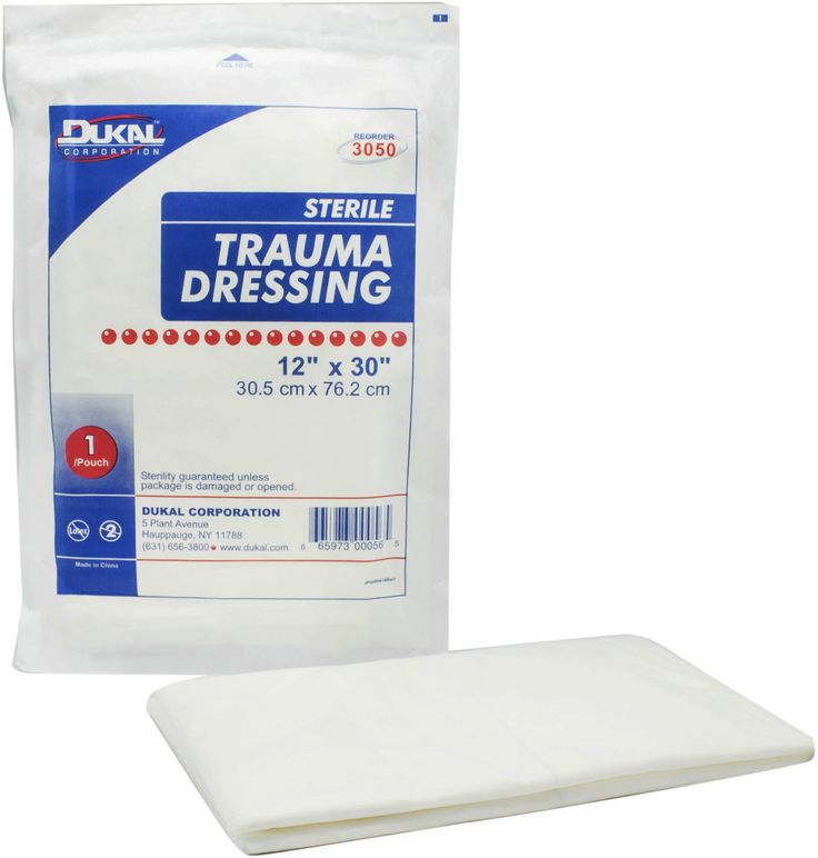"""dukal trauma dressing, 12""""x30"""", sterile, 1/pk 25pk/cs Case of 25"""