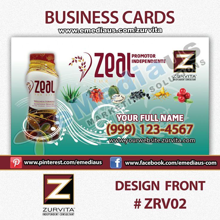 Zurvita Business Cards 14pt Uv Coated Both Sides Front