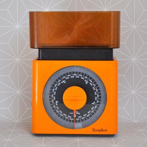 Balance Terraillon Vintage Orange - Pauline et Paulette, la boutique : www.paulineetpaulette.fr
