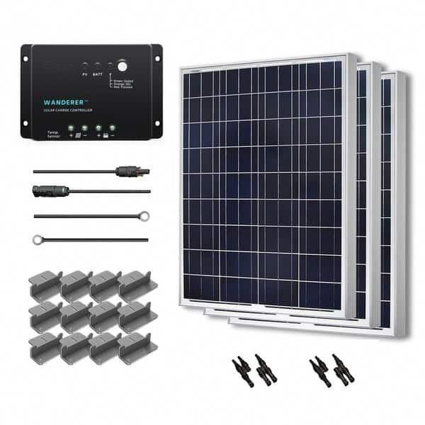 Renogy Solar Panel Starter Kit 300w With 3 100w Poly Sol Pan 20 Ad Kit 30a Chg Con Mc4 Br Conn Z Br Solarpanels Off Grid Solar Solar Kit Solar Panel Kits