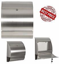 Stainless Steel Mailbox Locking Mail Box Letterbox Postal Box Modern Design Post