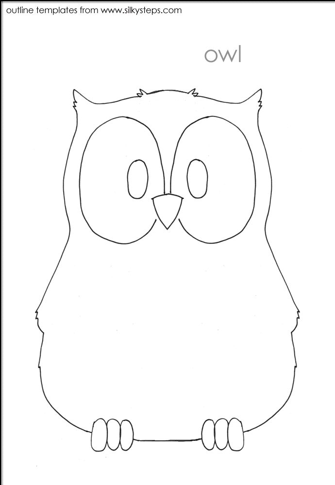 heart owl template printables pinterest owl template and