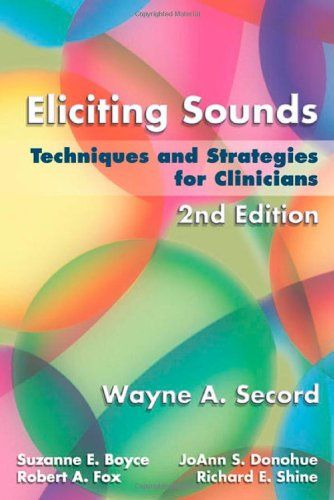 SLP_Echo: A Must Buy Book for New SLPs-Eliciting Sounds; Techniques and Strategies for Clinicians. Pinned by SOS Inc. Resources. Follow all our boards at pinterest.com/sostherapy/ for therapy resources.