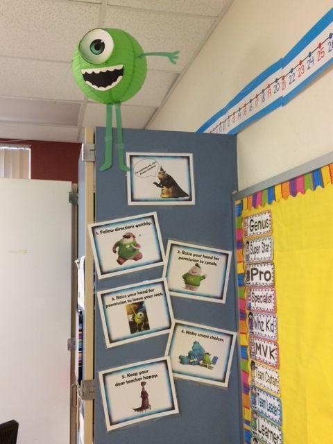 Monster Classroom Decor ~ Best disney pixar classroom theme images on pinterest