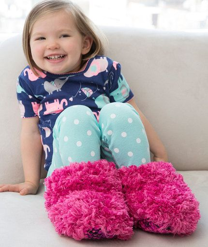 Child Fur Boot Slippers