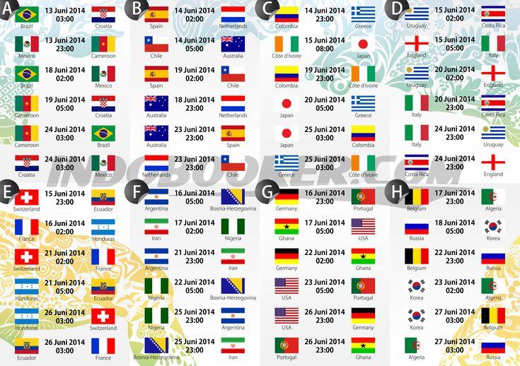 World Cup 2014 Schedule