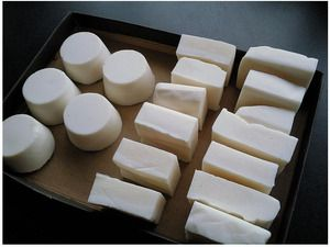 Homemade soap without lye (rebatching)