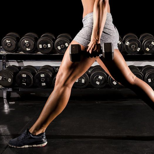 Sculpt your lower body with this dumbbell workout that will build strength in your legs.