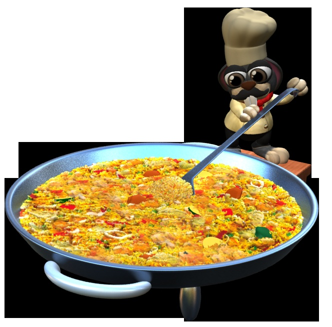 Hmmm, yummy paella from Spain!