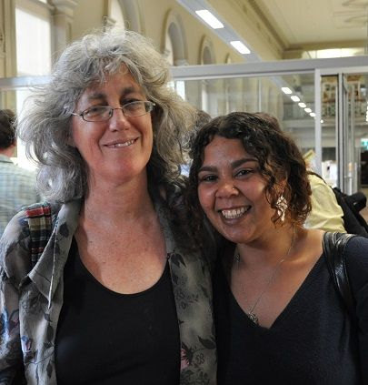 Mentor Lyndel Caffrey and writer Kat Clarke, supported through the Writers Victoria Personal Patrons program https://writersvictoria.org.au/writing-life/on-writing/personal-patron-mentorship-%E2%80%93-reflection