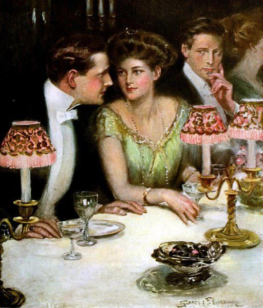 Clarence F. Underwood  I would like to have the gentlemen in this painting for a dream date!