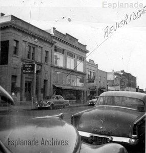 7 View of Second Street, Medicine Hat, showing the Beveridge Furniture Store and other businesses (undated),