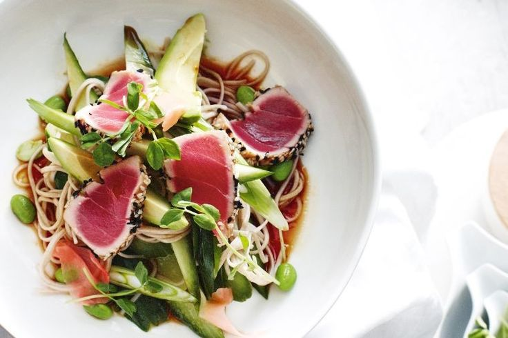 Turn seared tuna, soba noodles and spicy dressing into a nutritious, tasty and fast weeknight meal.