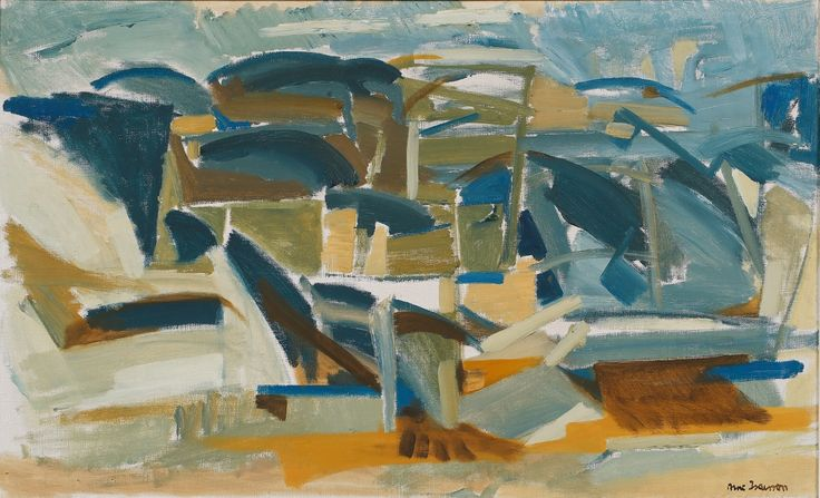 "terminusantequem: "" Arne Isacsson (Swedish, 1917-2010), Landskap, Gerlesborg, n/d. Oil on canvas, 49 x 79 cm """