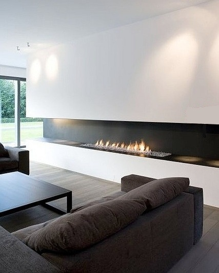 Extra long wall fire ~ Great pin! For Oahu architectural design visit http://ownerbuiltdesign.com