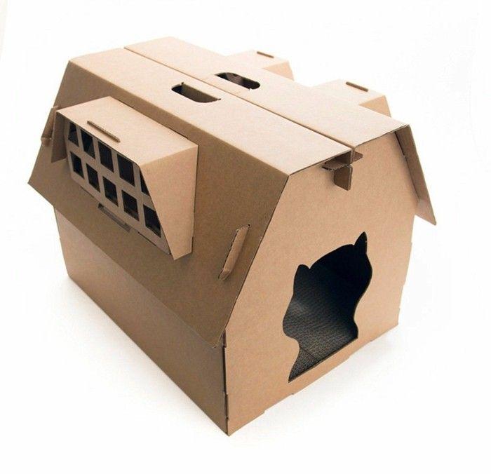 katzenhaus aus karton modernes katzenhaus aus pappe ersetzt erfolgreich den wie baue ich ein. Black Bedroom Furniture Sets. Home Design Ideas
