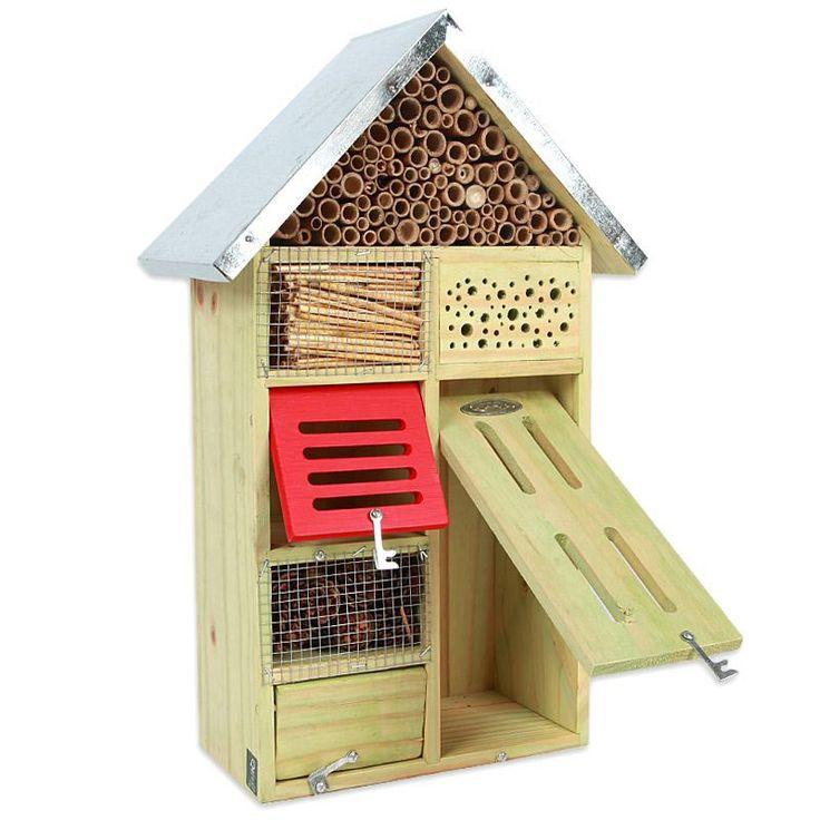 Hôtel à insectes en bois - Prenez soin des insectes dans votre jardin - 52 €