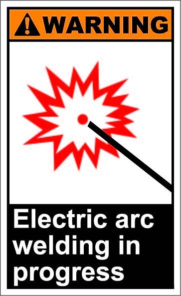 Electric arc welding in progress $1.64 #signs