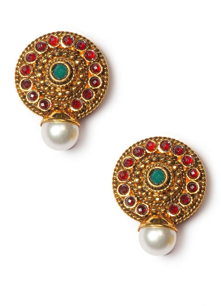 Exclusive Multicolor Stone Traditional Earring