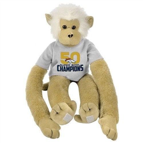 "Denver Broncos 2015 - 2016 Super Bowl 50 Champions Collectible 27"" Plush Monkey"