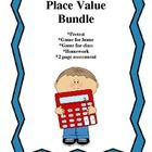 This bundle is a collection of documents in a place value unit.  It covers values of numbers, place value positions, and standard, written, and exp...