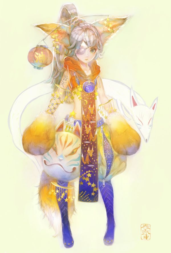 Kitune by YOGISHA.deviantart.com on @DeviantArt