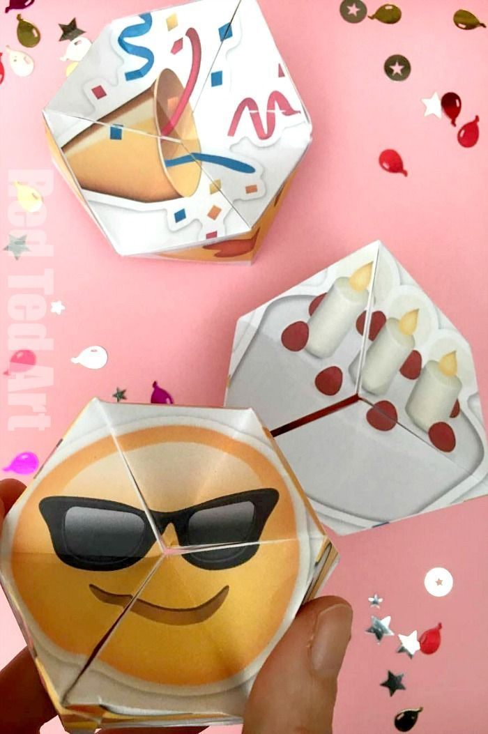 What is not to love about this easy DIY Paper Toy? There are EMOJIS, there is a PARTY, there are BIRTHDAYS.. check out this special set of Party Emoji Kaleidoscopes. Perfect as a New Years Eve Kids Activity, as a Birthday Party Craft or just because. So fun. Print. Cut. Assemble and HAVE FUN!!!!!