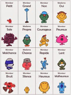 BLEU-BLANC-ROUGE: 8ème année - LES CONTRAIRES. Click through for a list of opposite adjectives.