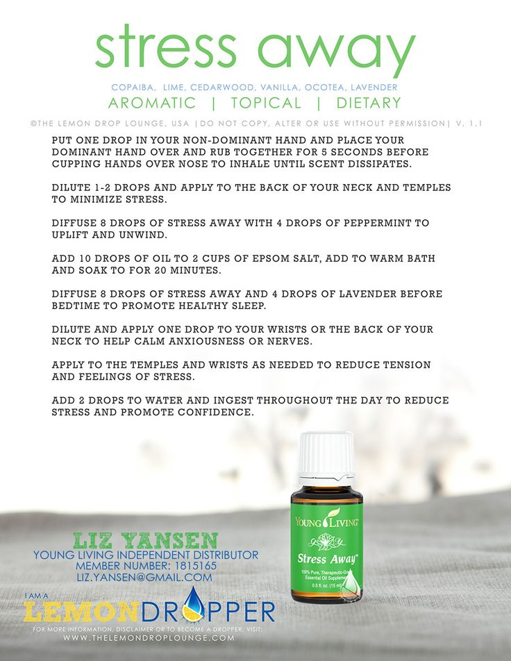 How to use Stress Away essential oil from Young Living