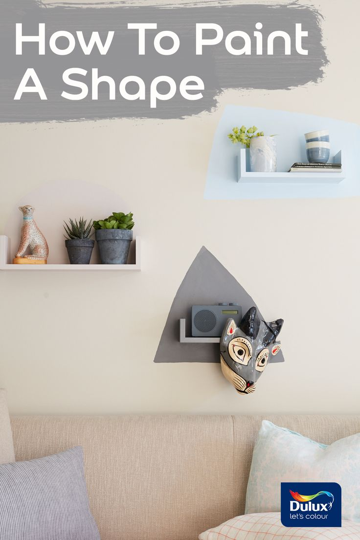 Embrace creativity by painting shapes on your walls at home.