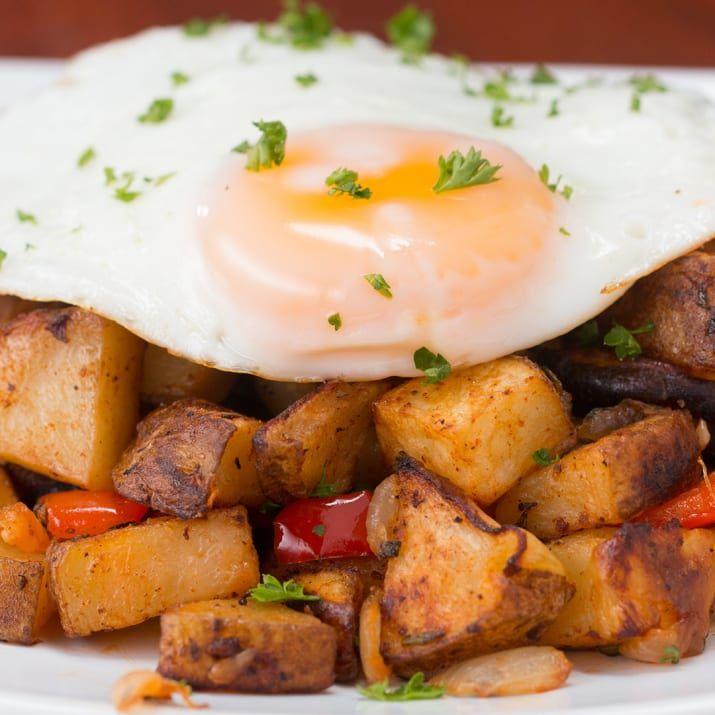 One-Pan Pequeno-almoço Batatas