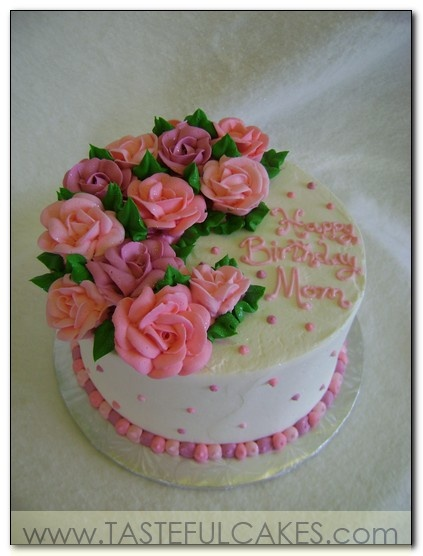 Rose Day Cake Images : cake cute pink light soft pale purple fuschia mom mothers ...